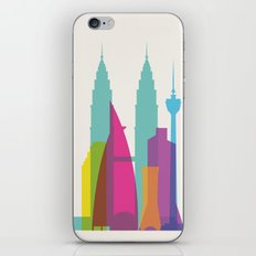 Shapes of Kuala Lumpur. Accurate to scale iPhone Skin