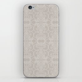 Snow Vertical Lace iPhone Skin
