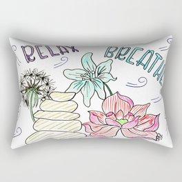 Relax & breathe Rectangular Pillow