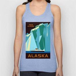 Alaska Taku Glacier retro vintage style travel Unisex Tank Top