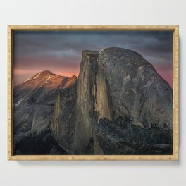 Half Dome Sunset 2 Serving Tray