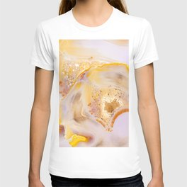 Modern Blush and gold Agate T-shirt