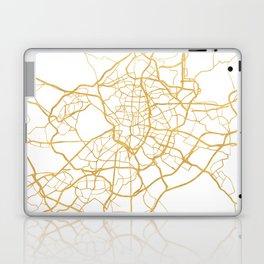 MADRID SPAIN CITY STREET MAP ART Laptop & iPad Skin