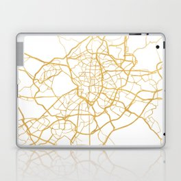 MADRID SPAIN CITY STREET MAP ART Laptop & iPad Skin