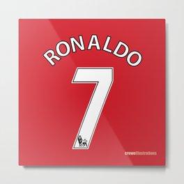 Set of Seven: Ronaldo 7 Metal Print