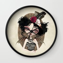 Countess Nocturne Vampire Wall Clock