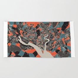Southampton Multicoloured Print Beach Towel