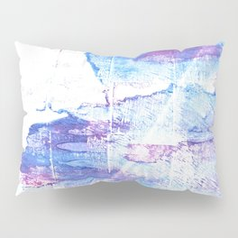 Blue white abstract Pillow Sham