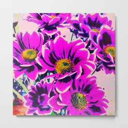 PURPLE DAISIES Metal Print