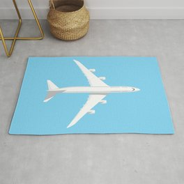 747-8 Jumbo Jet Airliner Aircraft - Sky Rug