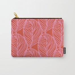 petaluma: pink leaf pattern Carry-All Pouch