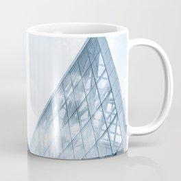 Teal Glass Building Coffee Mug