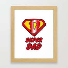 Super Dad - Father's Day Framed Art Print