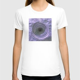 Mysterious Hole in Mountainside: Dark Lilac Version T-shirt