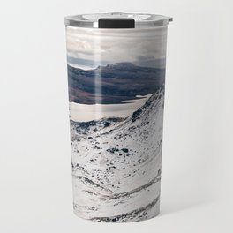 Old Man of Storr wrapped up in a blanket of snow Travel Mug