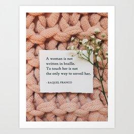 A Woman Is Not Art Print