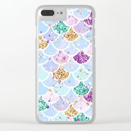 Sparkly Mermaid Tail Clear iPhone Case