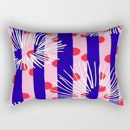 line vertical polka dots circle flower blue pink white Rectangular Pillow