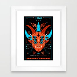 TAROT. XV- Le Diable Framed Art Print
