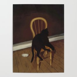 Black Cat on a Chair - Andrew L. von Wittkamp 1850-1875 Poster
