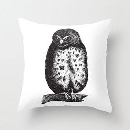 Fluffy owl Throw Pillow