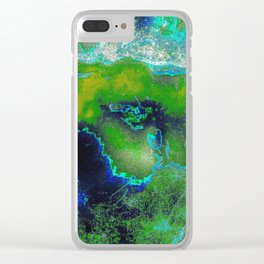 Cosmic Lime Clear iPhone Case