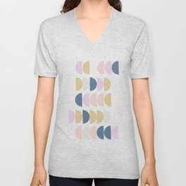 Simple Shapes in a Modern Winter Palette Unisex V-Neck