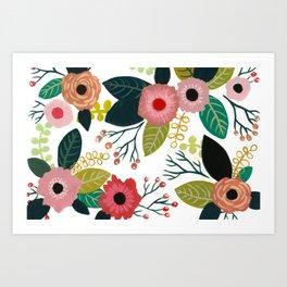 Cute Flowers Art Print