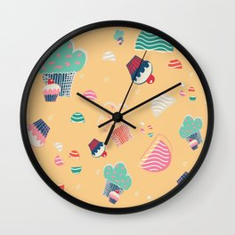 Cupcake yellow Wall Clock