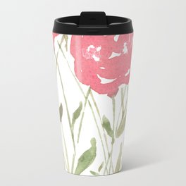 A Bunch Of Red Roses Travel Mug