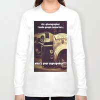 cameras Long Sleeve T-shirts featuring Vintage cameras by Fairies and Rock