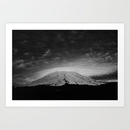 Mount Saint Helens Black and White Art Print