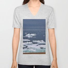 Icebergs on a Calm Sea Unisex V-Neck
