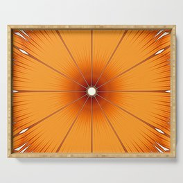 Orange Flower Serving Tray
