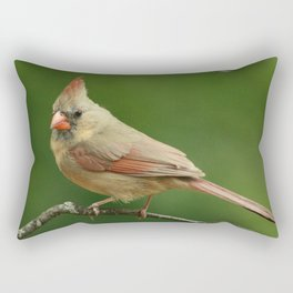 Female Cardinal Rectangular Pillow