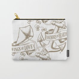 Wings of Love anchors the Heart - Vintage Carry-All Pouch