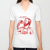 anchorman V-neck T-shirts featuring Anchorman: Milk was a Bad Choice by Red Misery