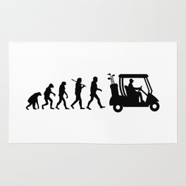 Evolution - golf  black&white Rug