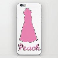 peach iPhone & iPod Skins featuring Peach by husavendaczek