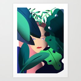 Woman in the Jungle Art Print