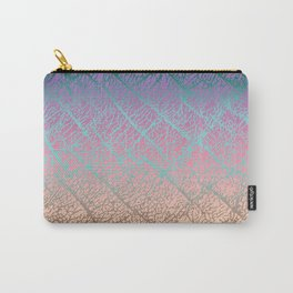 Pink Beige Elephant Skin Carry-All Pouch