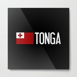 Tonga: Tongan Flag & Tonga Metal Print