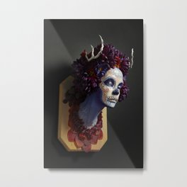 Momma Muertita Side Metal Print