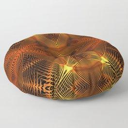 Golden Thread Floor Pillow