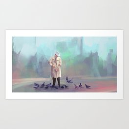 Birds man Art Print