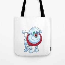 Cute Poodle Clown Halloween Design Tote Bag