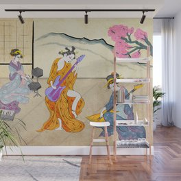 Traditional J-Pop Band Wall Mural