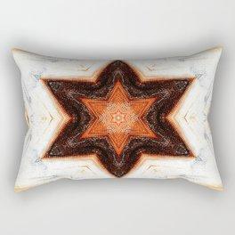 Earth Star Mandala Rectangular Pillow