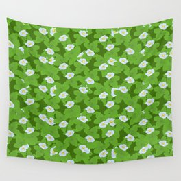 Strawberry FLowers Wall Tapestry