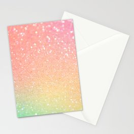 Ombre Glitter 18 Stationery Cards